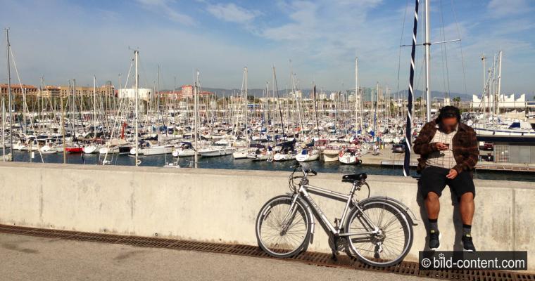 Mit dem Fahrrad durch Barcelona