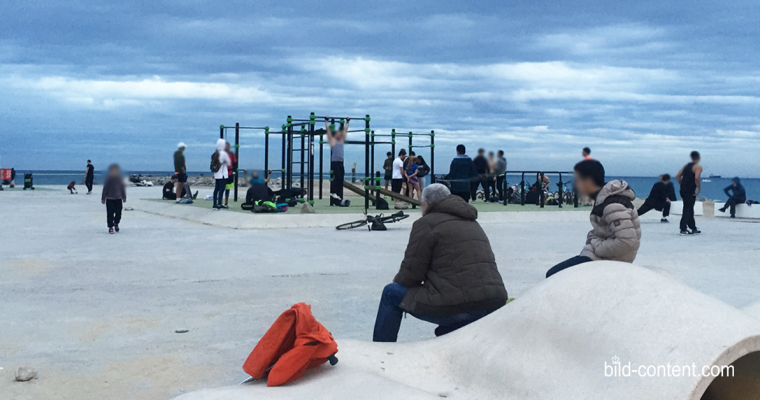 Beach Workout in Barcelona