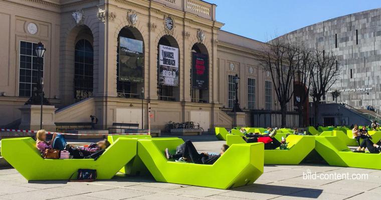 MQ Wien: Quietschgrün macht Laune