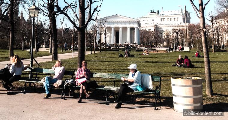 Pause im Volksgarten Wien
