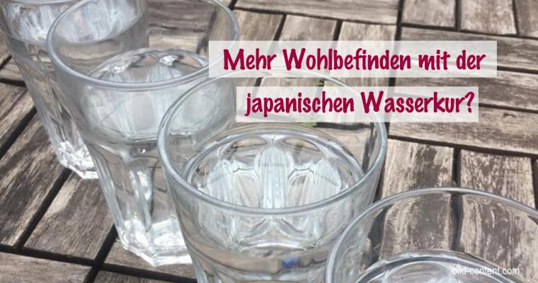 Japanische Wasserkur für mehr Wohlbefinden