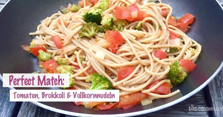 Vollkornnudeln mit Tomaten und Brokkoli