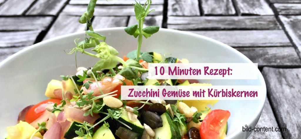 Zucchini Gemüse mit Kürbiskernen