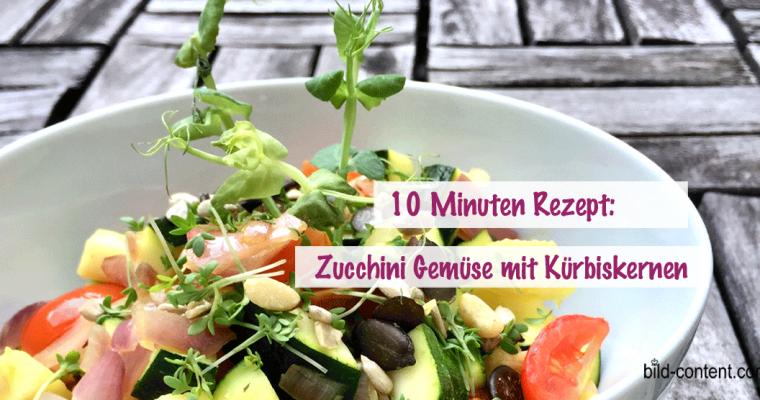 10 Minuten Zucchini Gemüse mit Kürbiskernen