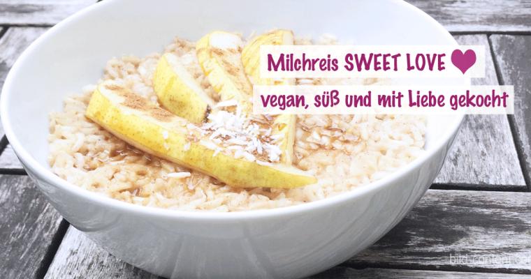 Vegan und süß: Hafermilchreis mit Birne und Zimt