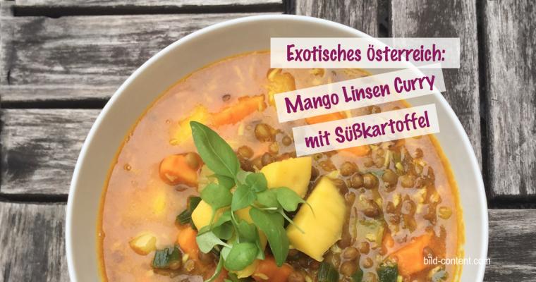 Linsen Mango Curry mit Süßkartoffel