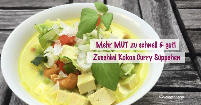 Zucchini Kokos Curry – schnelle Suppe mit Räuchertofu