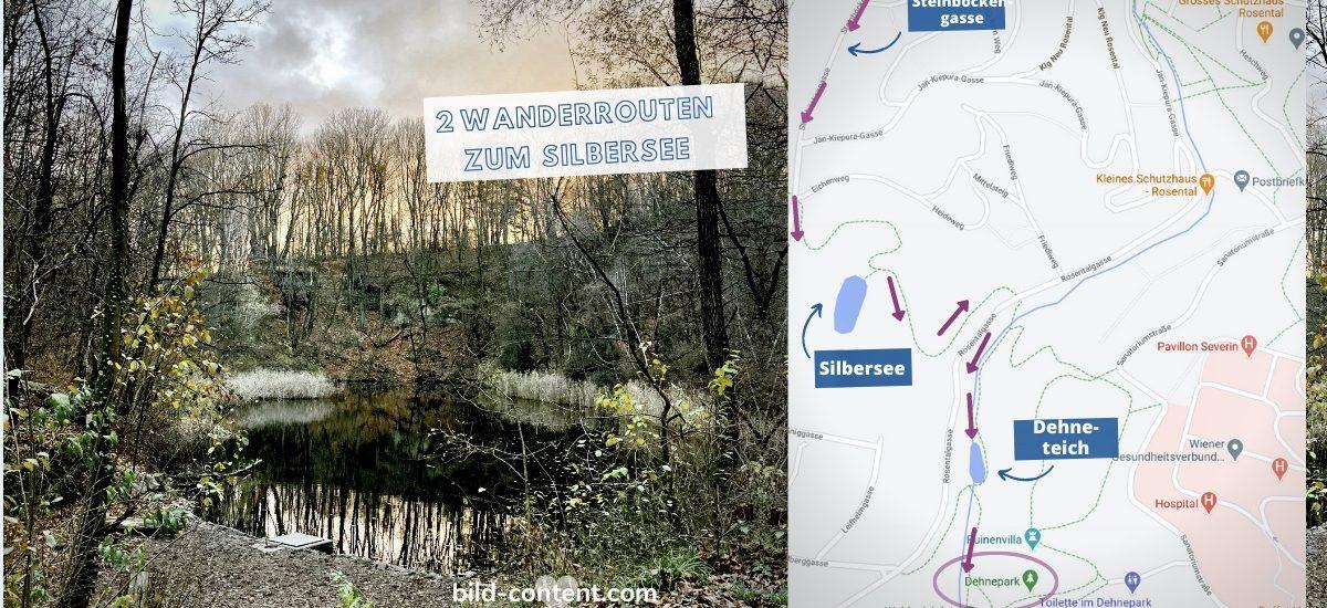 Wien wandern: 2 Routen zum Silbersee im Dehnepark