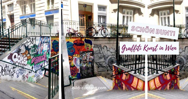 Farbenfrohes Wien: Graffiti Kunst bei der Capistranstiege