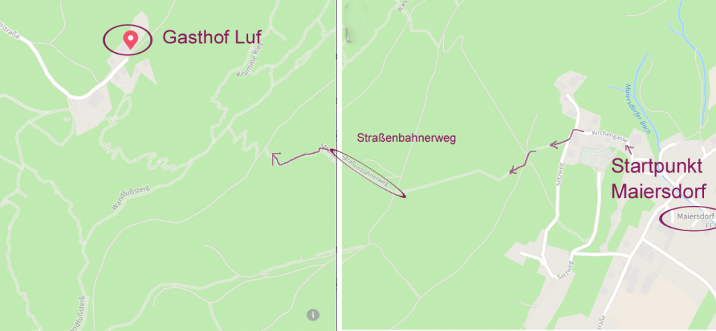 Verlauf Straßenbahnerweg