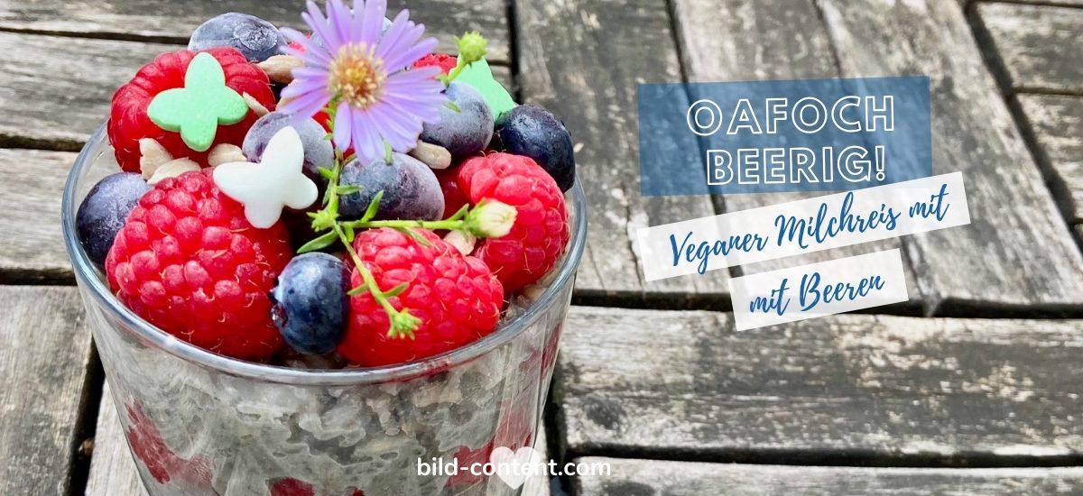 Veganer Milchreis mit Beeren