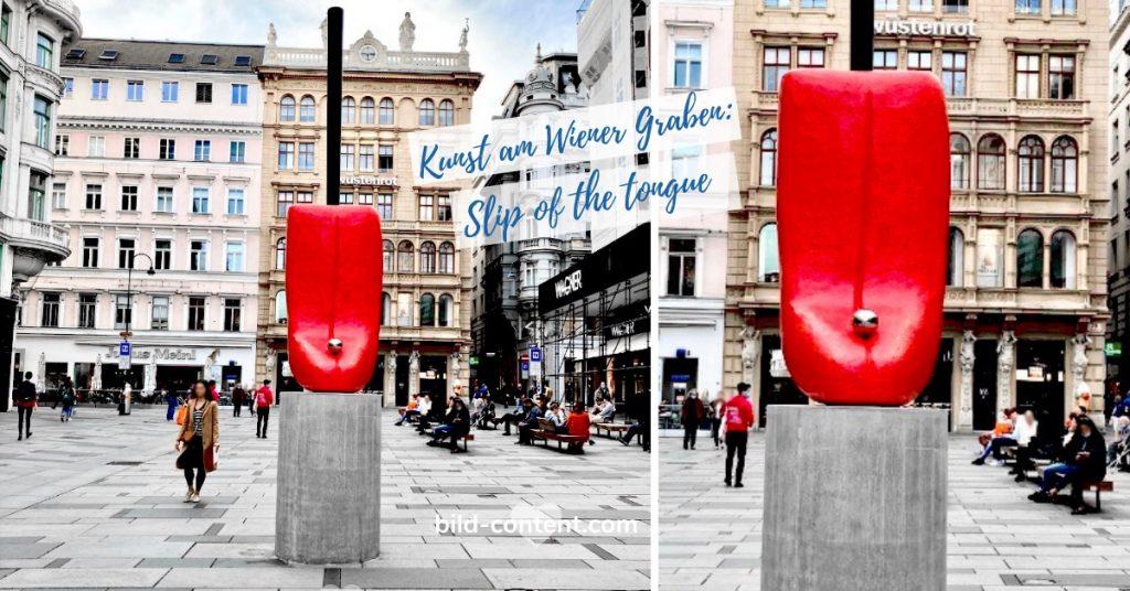 Zungen Skulptur im öffentlichen Raum Wien Gaben