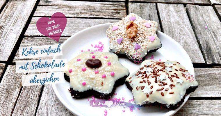 Kekse einfach mit Schokolade überziehen