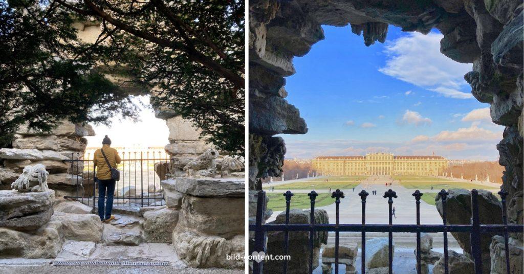 Blick auf Schloss Schönbrunn vom Neptun Brunnen aus, ©astrid eishofer