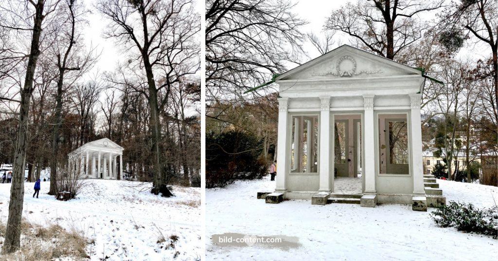 Griechischer Tempel im Pötzleinsdorfer Schlosspark, Januar 2021, Foto: ©Astrid Eishofer