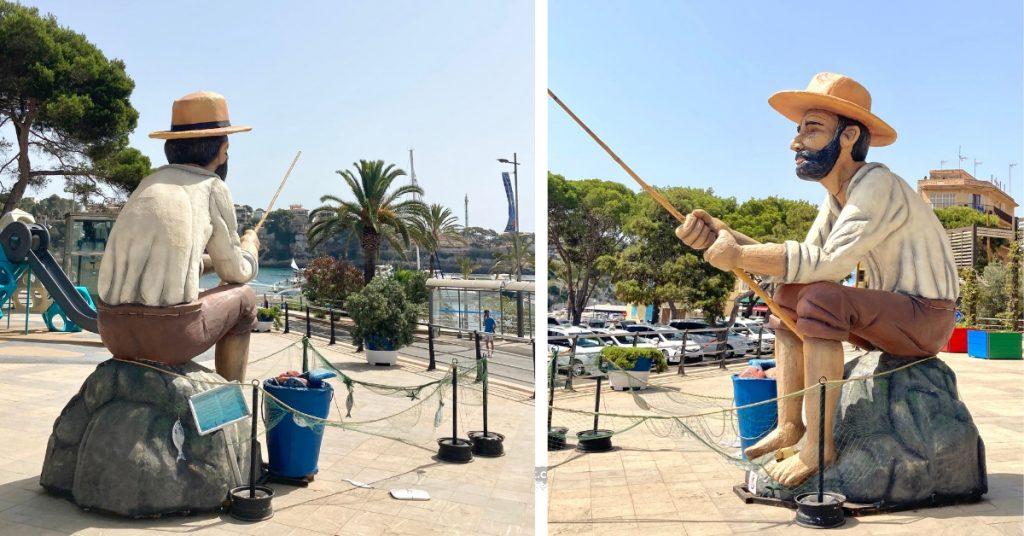 Fischer Skulptur in Porto Cristo