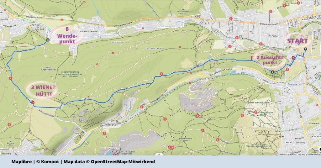 Stadtwanderweg 6 - Rodaun - Mitzi Langer Weg - Wiener Huette